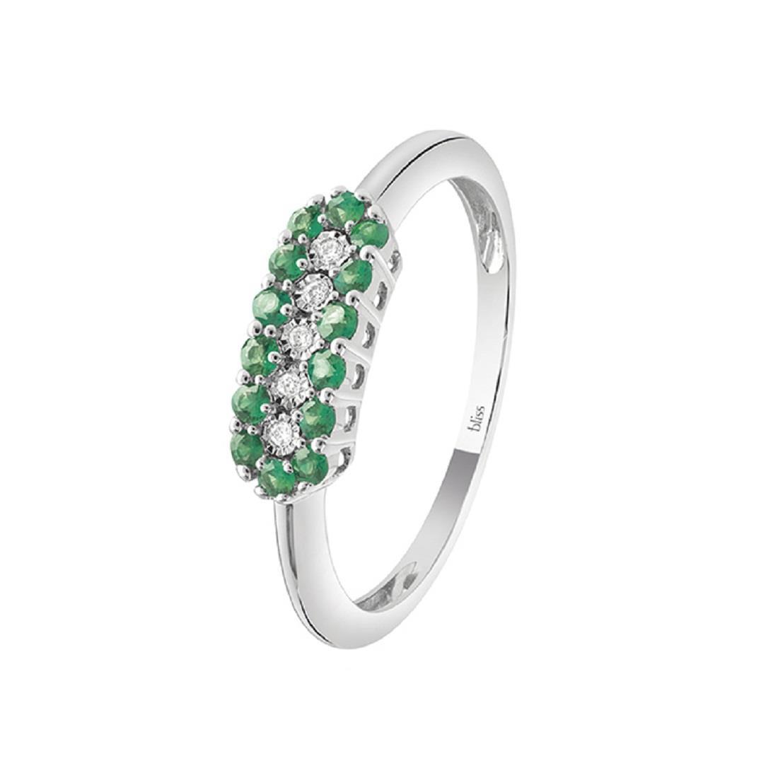 Anello con diamanti e smeraldi - BLISS