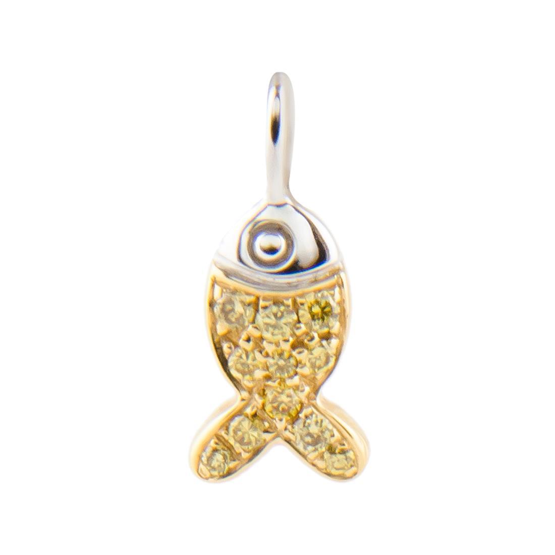Ciondolo pesciolino in oro con diamanti ct 0.12 - CHOPARD
