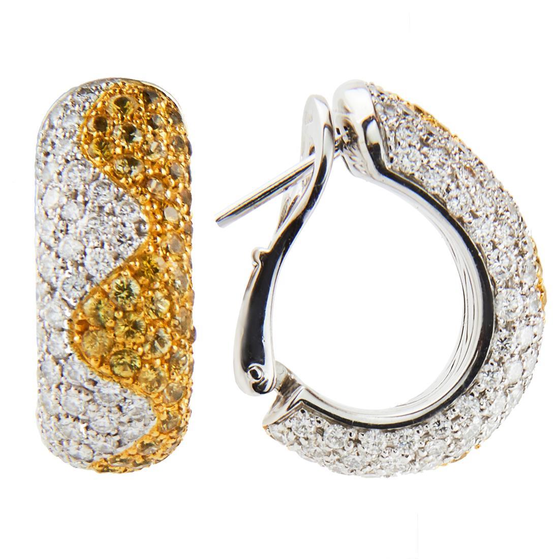 Orecchini in oro bianco e diamanti ct 2.25 - CHOPARD