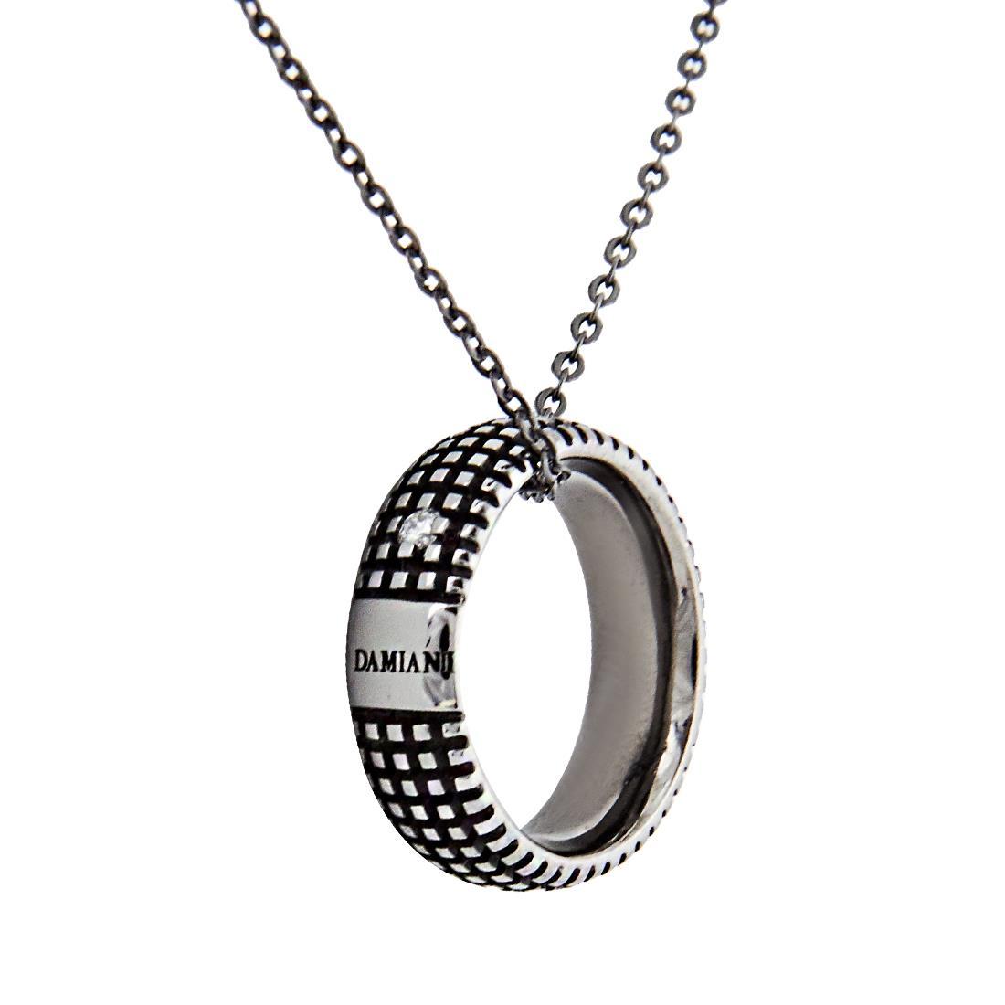 Collana in oro black con diamante ct 0.02, lunghezza 50cm regolabile a 42cm - DAMIANI