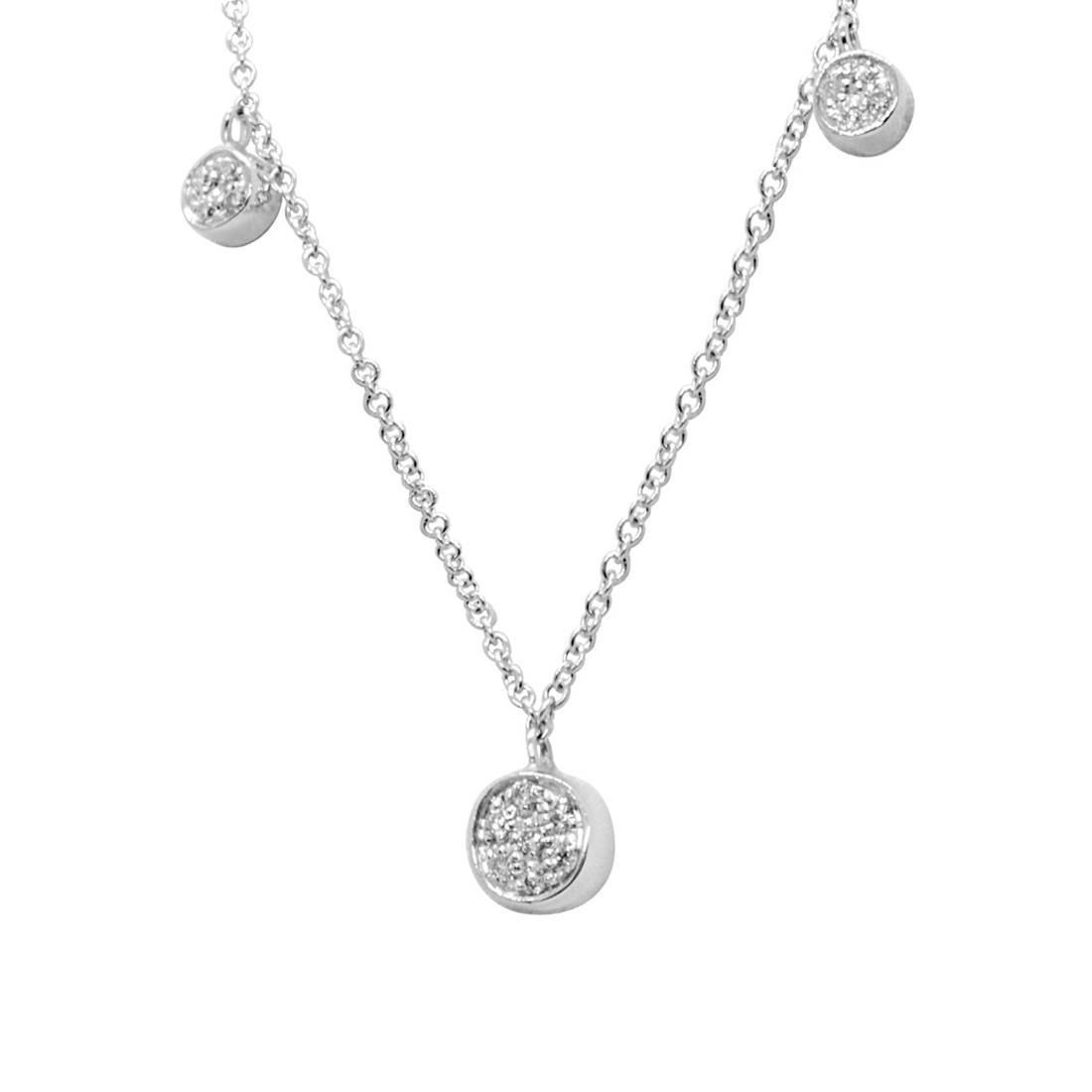 Collana in oro bianco con diamanti 0.08 ct - ALFIERI & ST. JOHN