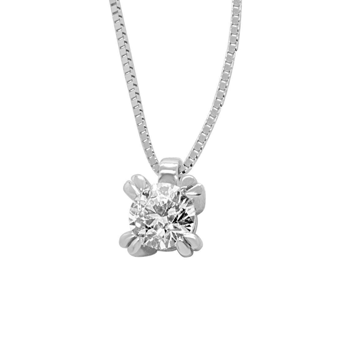 Collier punto luce in oro bianco con diamante 0,50 ct - ALFIERI & ST. JOHN