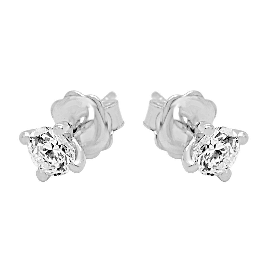 Orecchini punto luce in oro bianco con diamanti 1.00 ct - ALFIERI & ST. JOHN