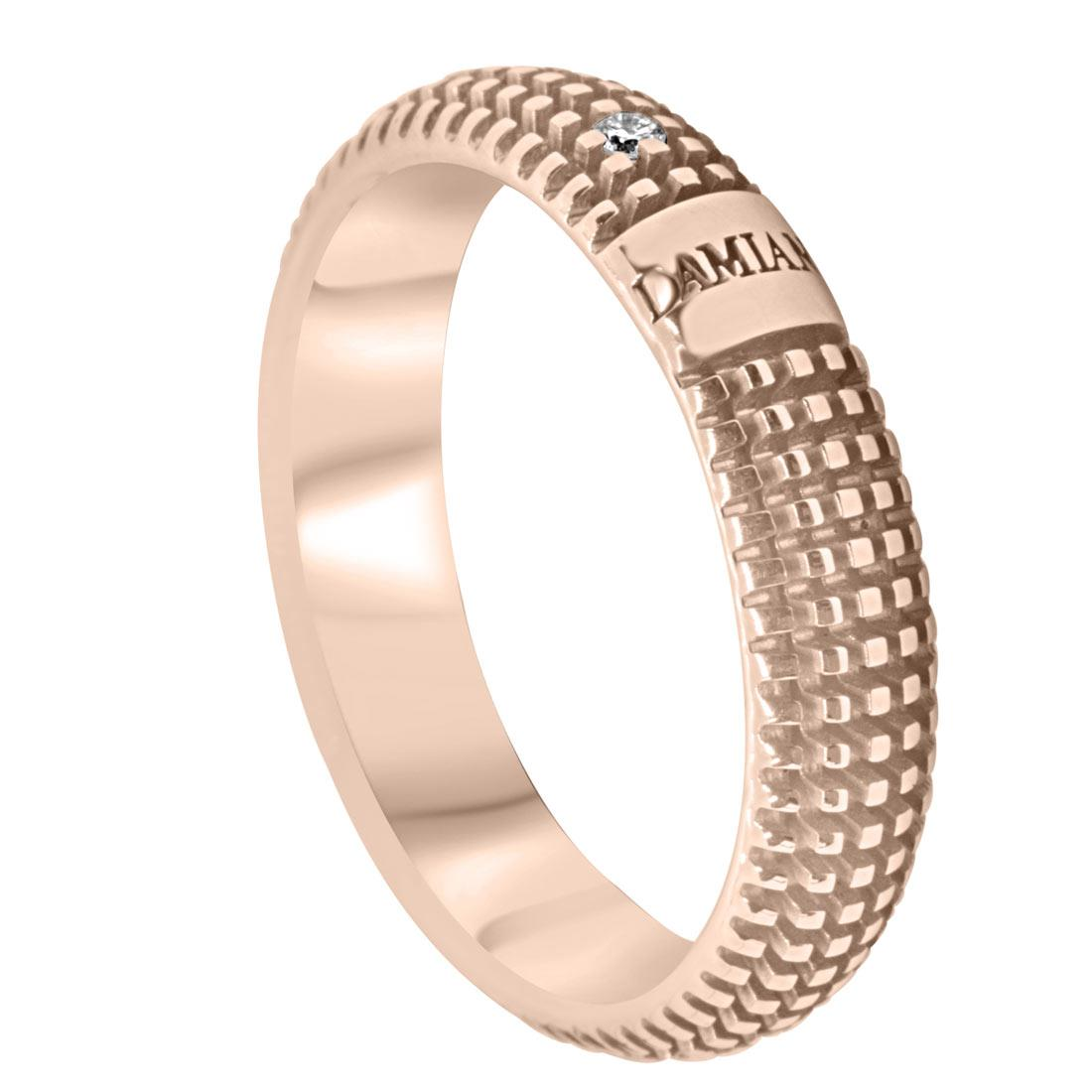 Anello Damiani Metropolitan dream in oro rosa con diamanti ct 0,01 - DAMIANI