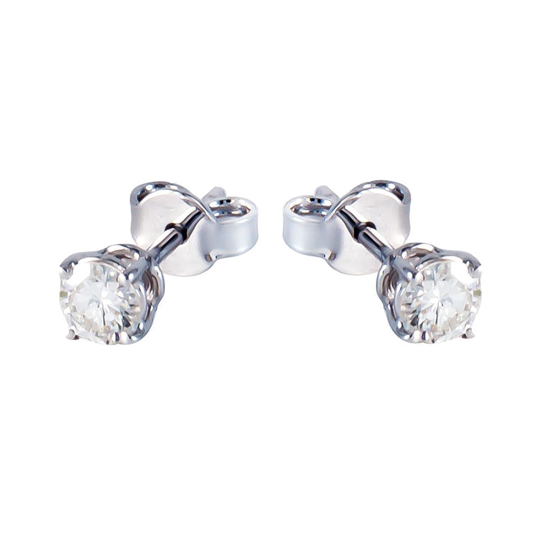 Orecchini  in oro bianco con diamanti ct 0.40 - ORO&CO