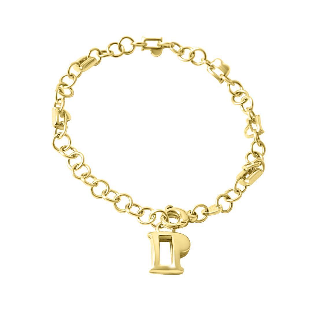 Bracciale i in oro giallo con charms e rubini ct 0.06 - PASQUALE BRUNI