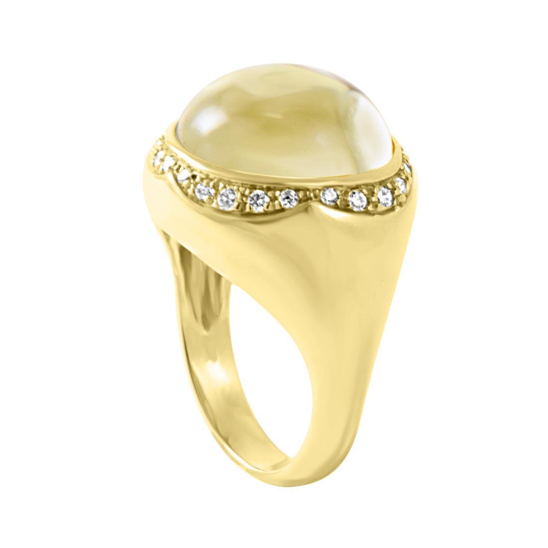 Anello in oro giallo con diamanti ct 0,34  misura 14 - PASQUALE BRUNI