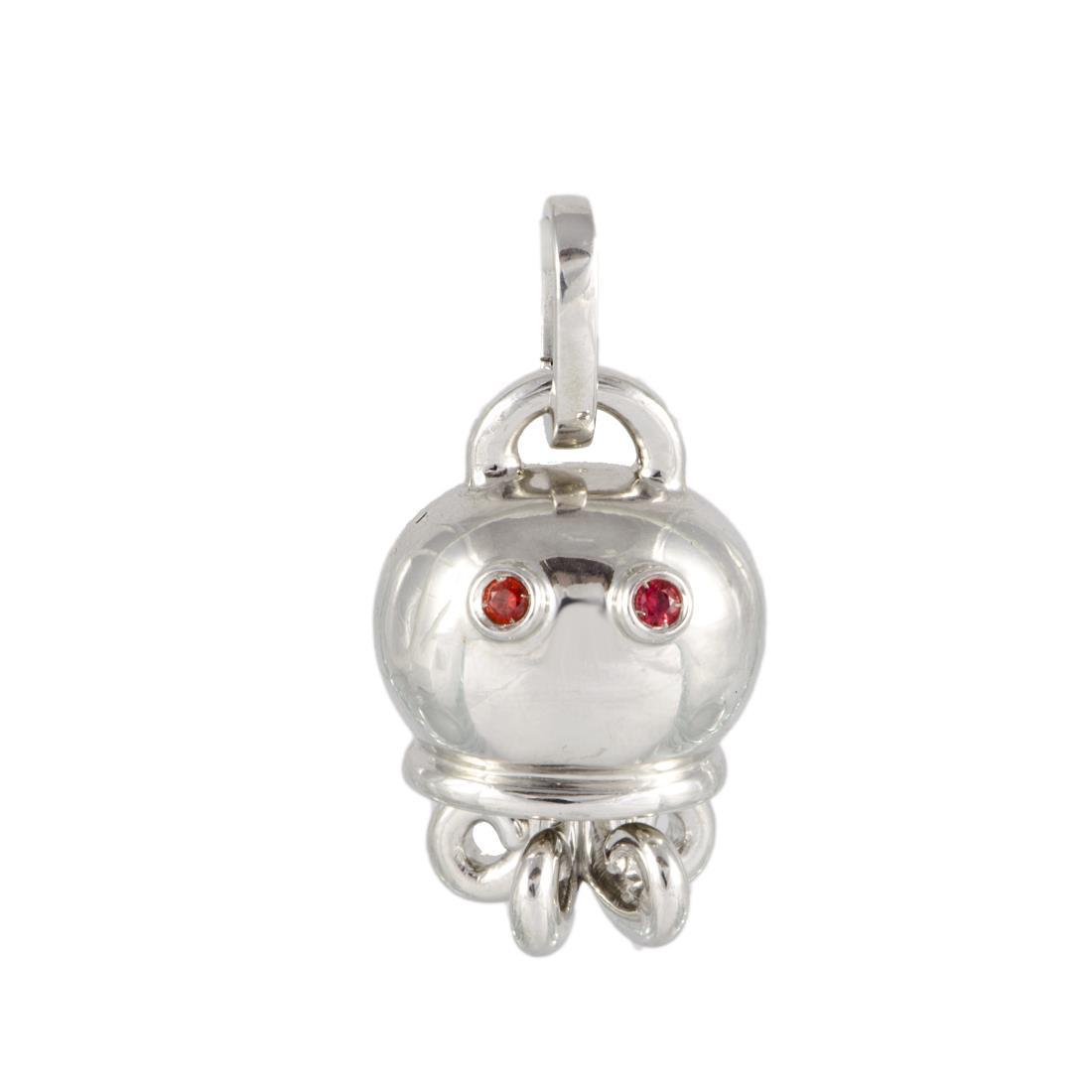 Ciondolo Chantecler in argento con zaffiro ct 0,02 - CHANTECLER