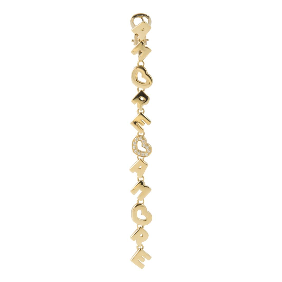 Monoorecchino in oro giallo con diamanti ct 0.08 - PASQUALE BRUNI