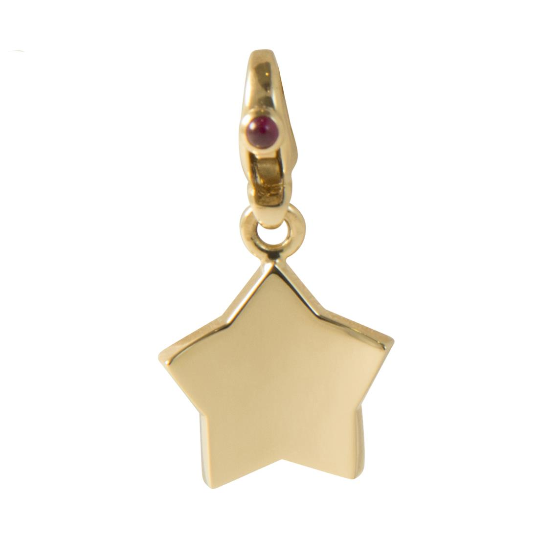 Ciondolo in oro giallo con rubini ct 0.06 - PASQUALE BRUNI