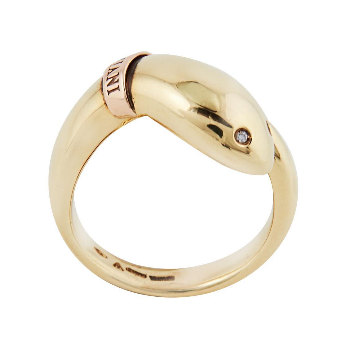 Anello in oro giallo con diamanti, misura 15 - DAMIANI