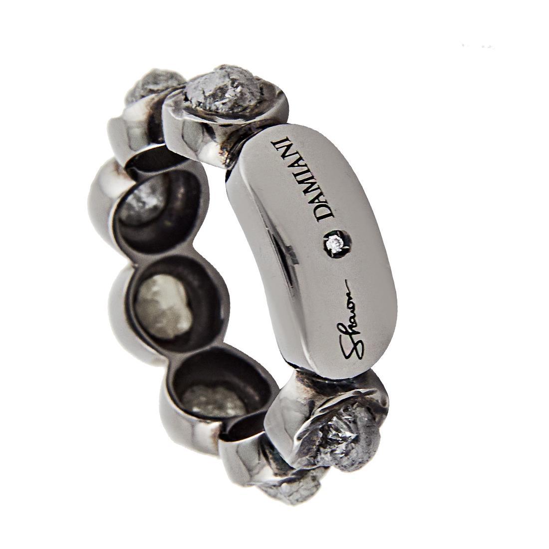 Anello in argento con diamanti grezzi ct 2, misura 15 - DAMIANI