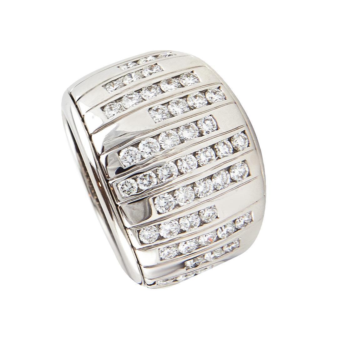 Anello in oro bianco con diamanti ct 1.55 - DAMIANI