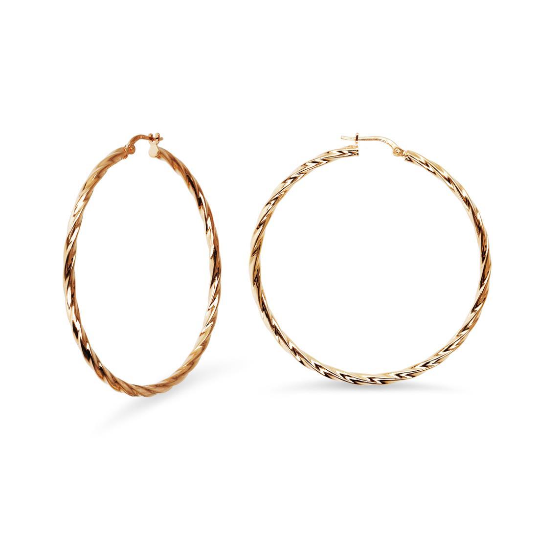 Hoop earrings - BELROSE BY BRONZALLURE