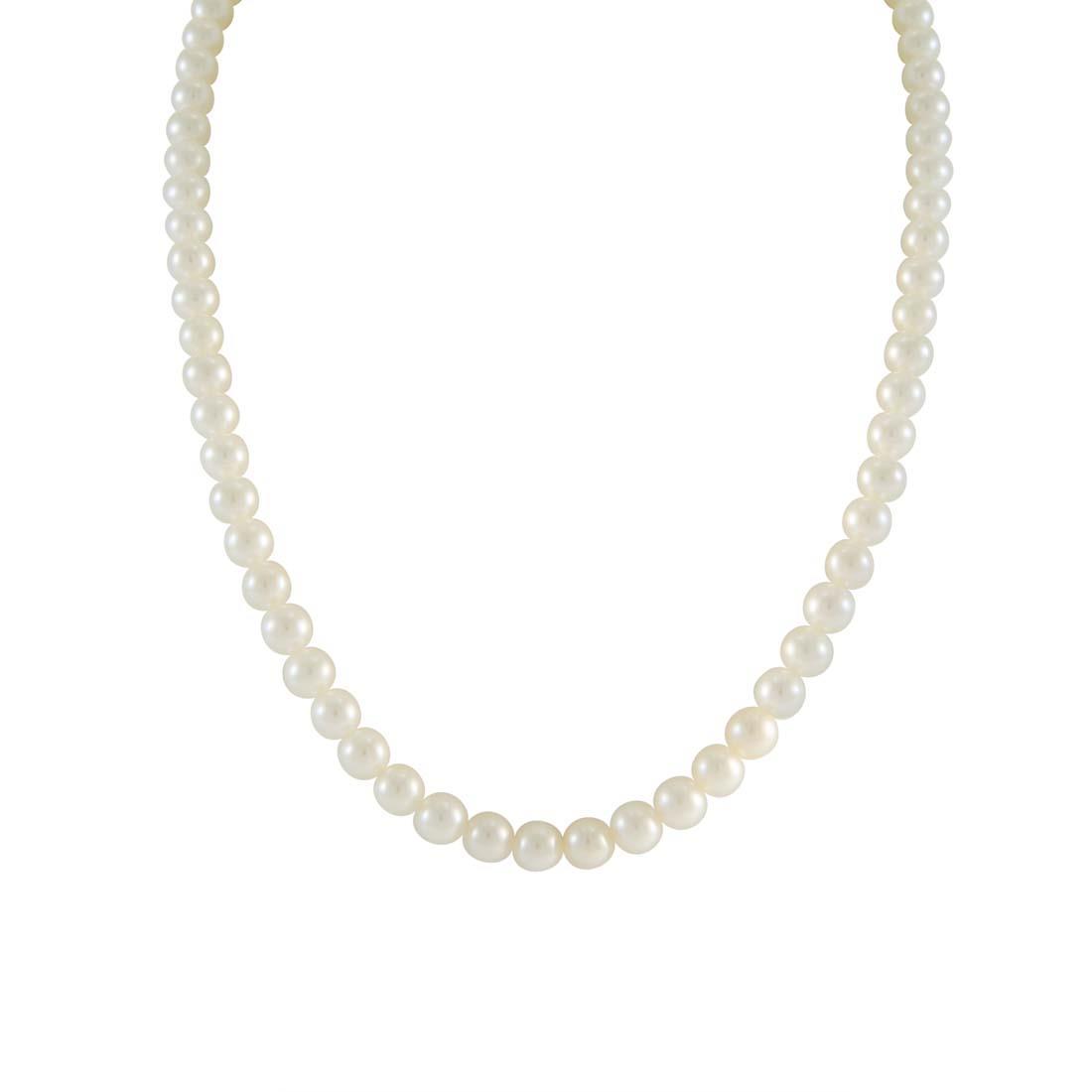Collana Oro & Co filo di perle Freshwater con chiusura in oro 18 kt gr 1,40, lunghezza 42 cm - ORO&CO