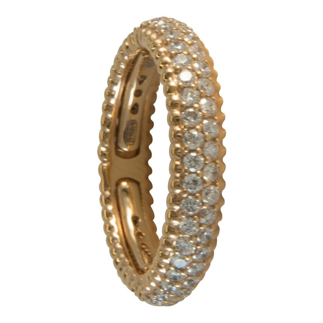 Anello in oro giallo con diamanti ct 1.20 - ALFIERI ST JOHN