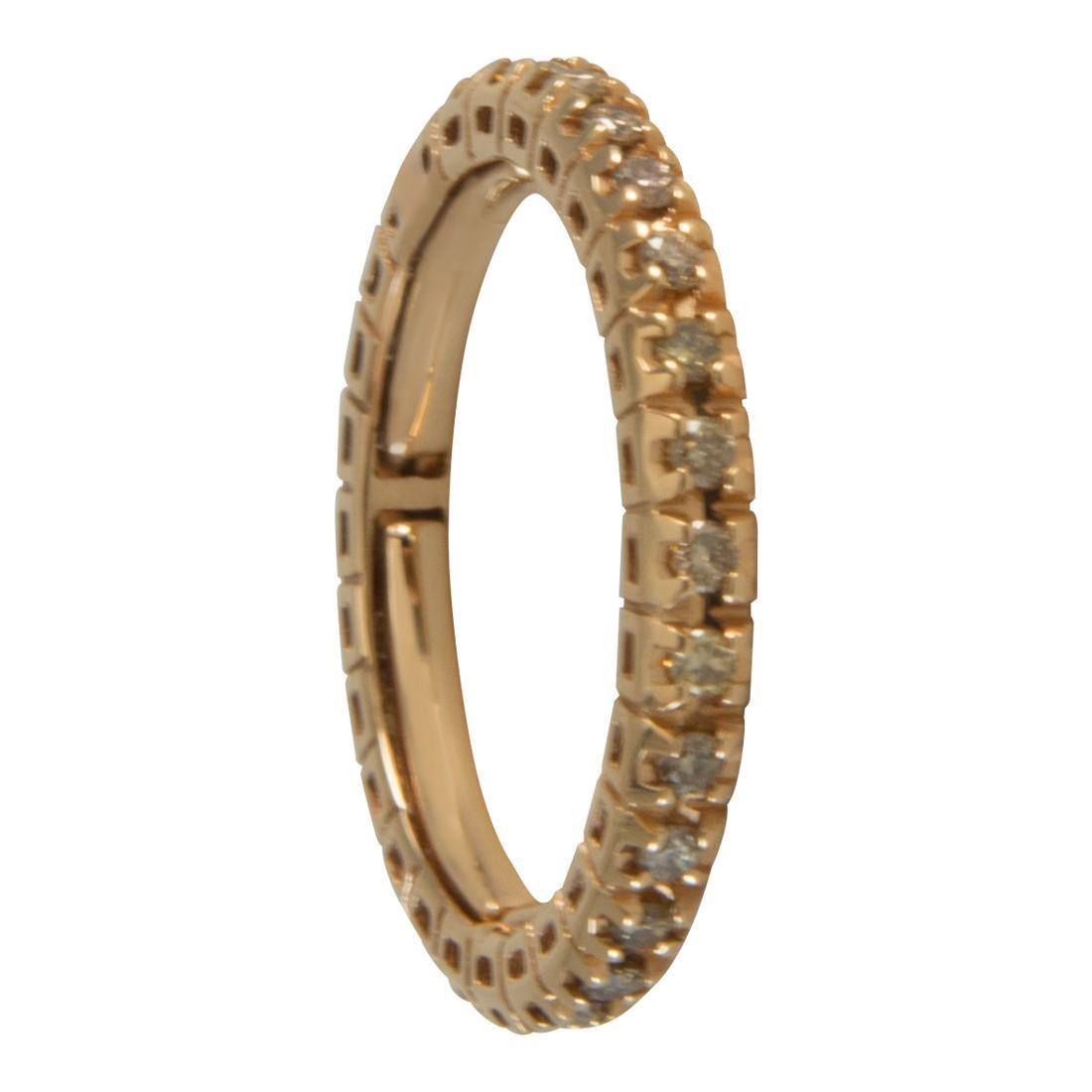 Anello in oro giallo con diamanti brown 0.50 - ALFIERI ST JOHN