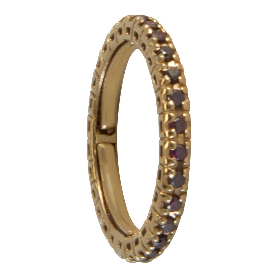 Anello in oro giallo con diamanti viola ct 0.50 - ALFIERI ST JOHN