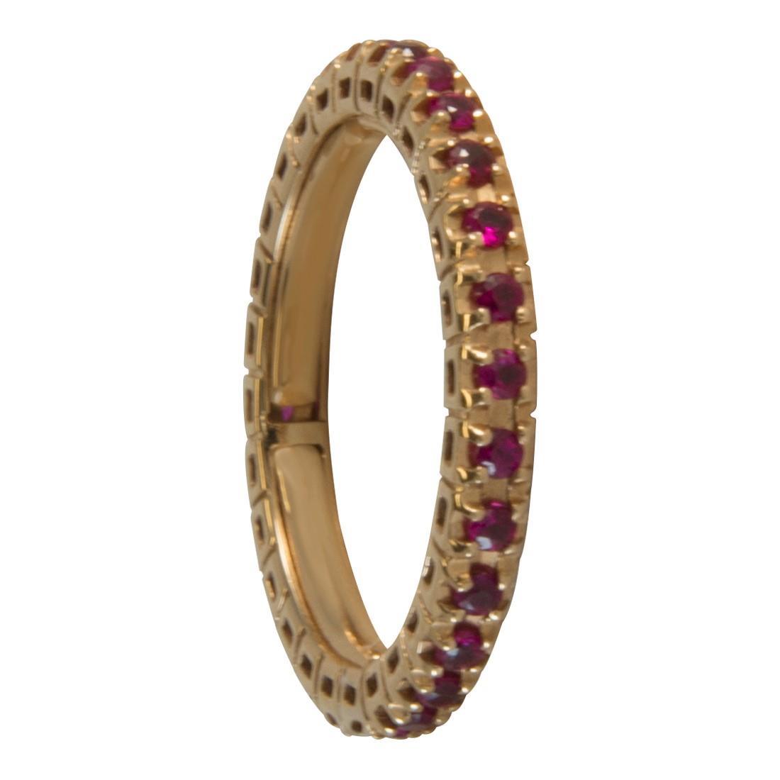 Anello  in oro giallo con rubini ct 0.60 - ALFIERI ST JOHN