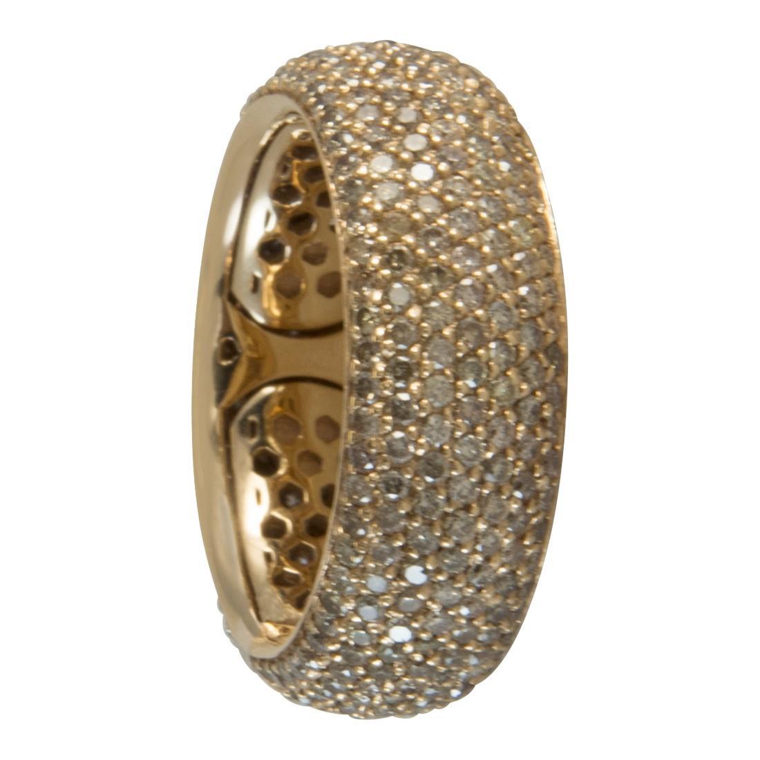 Anello  in oro 18kt con diamanti brown ct 2.50 - ALFIERI ST JOHN