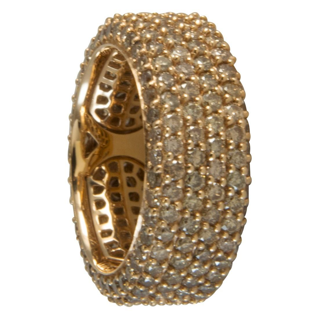Anello  in oro 18kt con diamanti brown ct 4.10 - ALFIERI ST JOHN