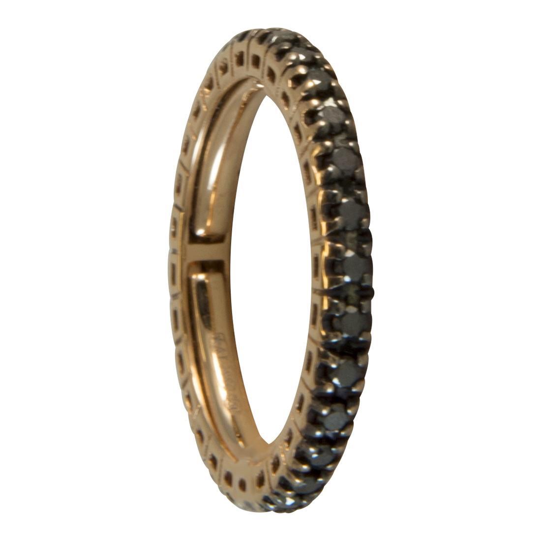 Anello  in oro 18kt con diamanti neri ct 0.55 - ALFIERI ST JOHN