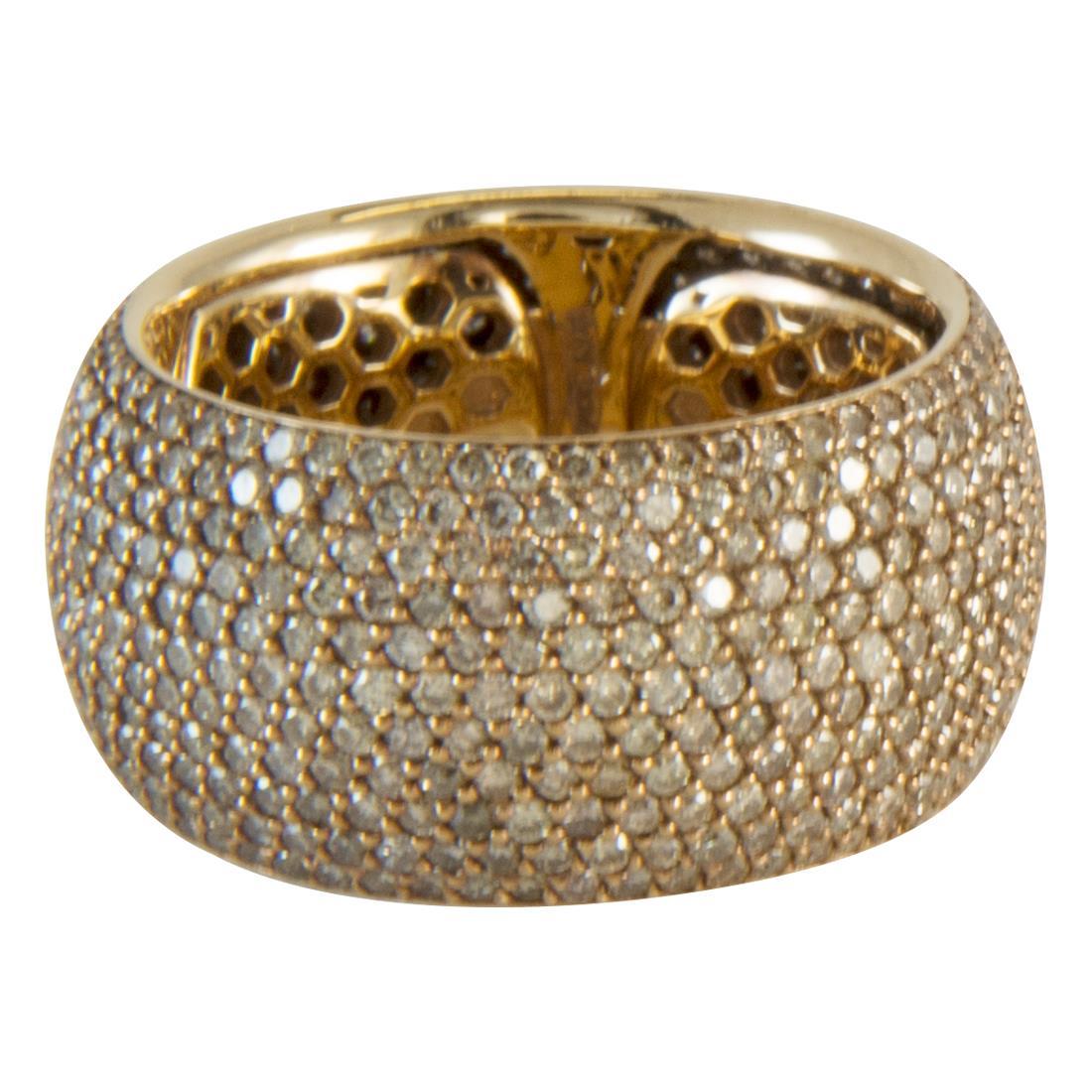 Anello  in oro 18kt con diamanti brown ct 4.00 - ALFIERI ST JOHN