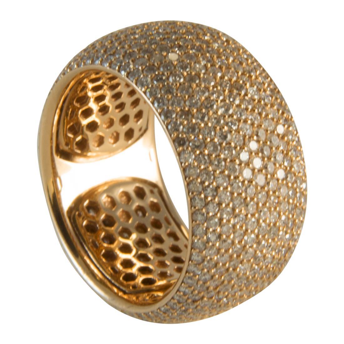 Anello  in oro 18kt con diamanti ct 4.00 - ALFIERI ST JOHN