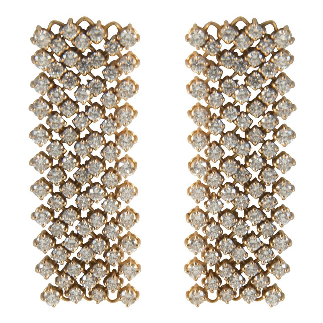 Orecchini  in oro con diamanti ct 4.30 - ALFIERI ST JOHN