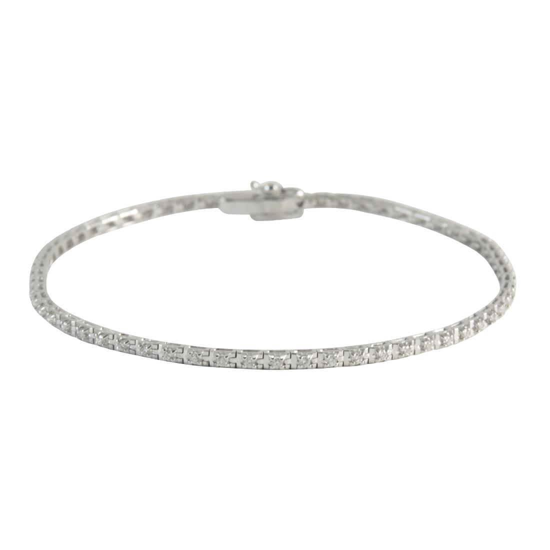 Bracciale  in oro bianco con diamanti ct 0.70 - ALFIERI ST JOHN