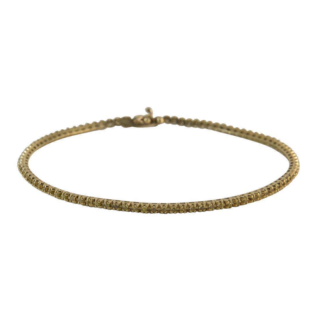 Bracciale  in oro giallo con diamanti gialli ct 0.50 - ALFIERI ST JOHN
