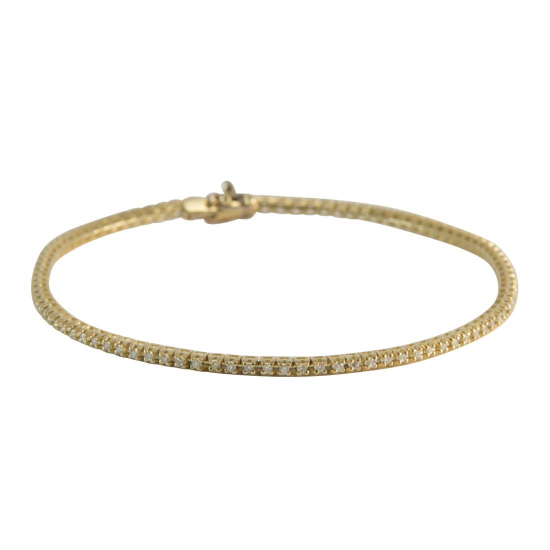 Braccial  in oro giallo con diamanti ct 0.50 misura 18cm - ALFIERI ST JOHN