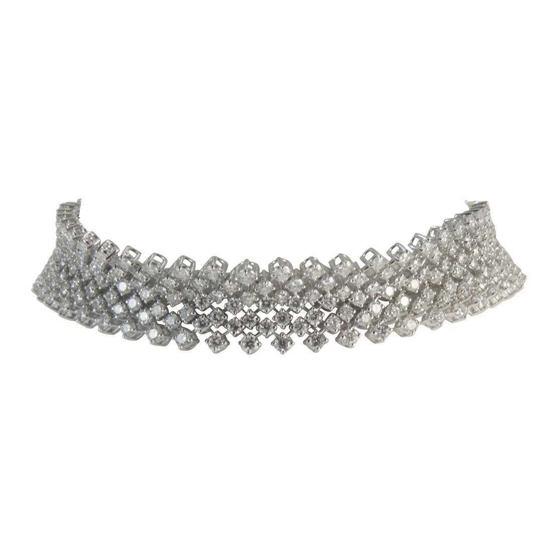 Bracciale  in oro bianco con diamanti ct  9.30 - ALFIERI ST JOHN