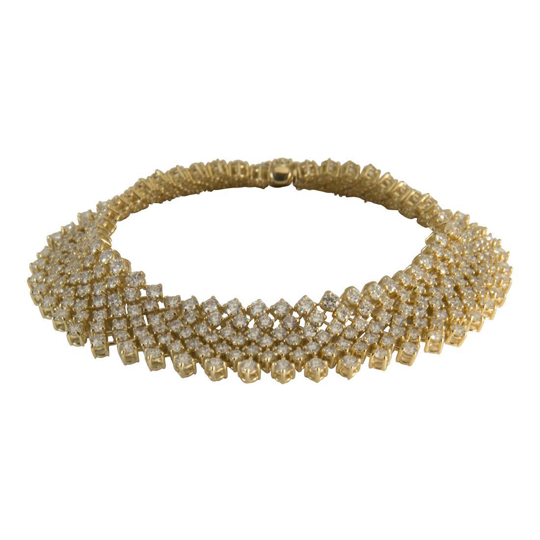 Bracciale  in oro giallo con diamanti ct 9.30 - ALFIERI ST JOHN