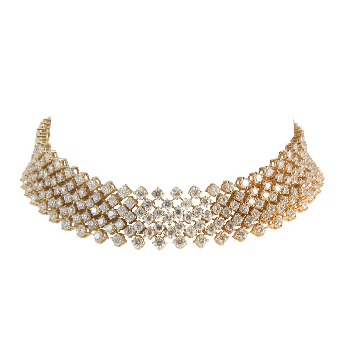 Bracciale  in oro rosa con diamanti ct 9.30 - ALFIERI ST JOHN