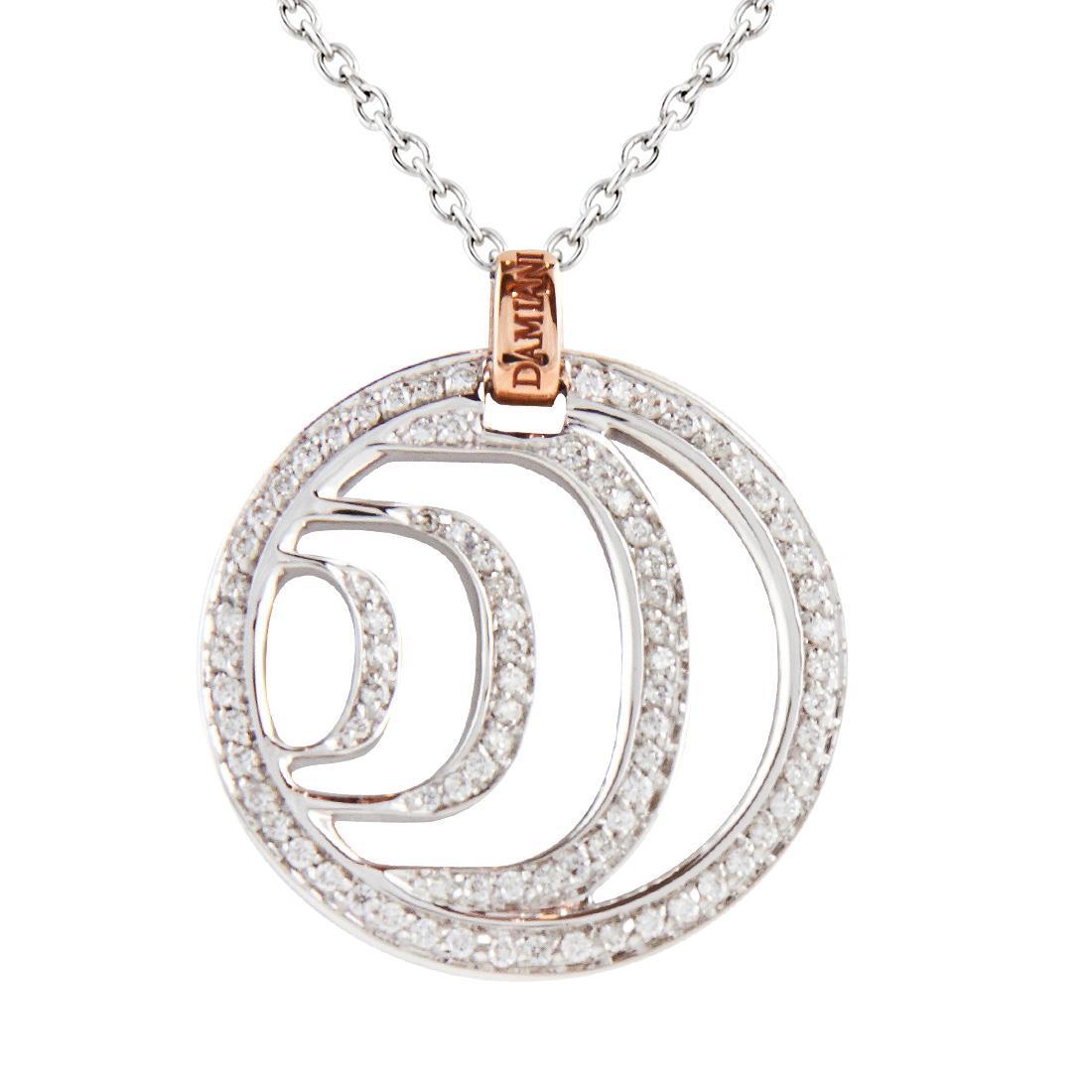 Collana in oro rosa e bianco con diamanti ct 0.586 - DAMIANI