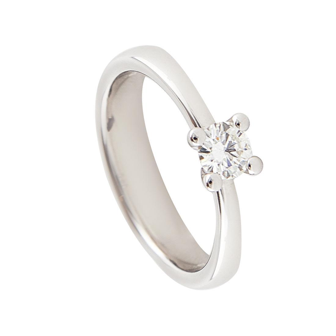 Anello in oro bianco con diamante ct 0.40 - DAMIANI