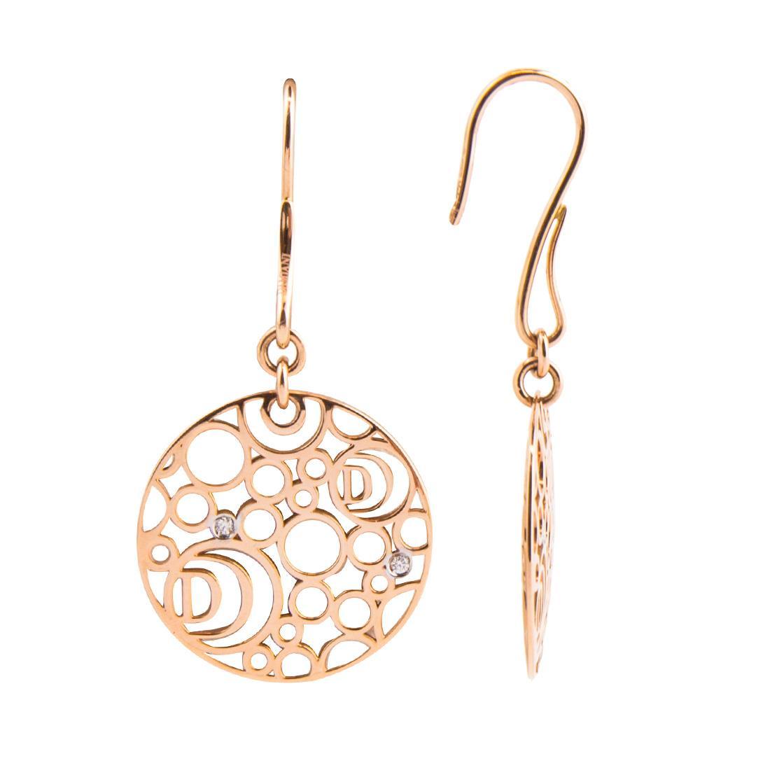 Orecchini Damiani Collezione Damianissima in oro rosa con diamanti  - DAMIANI