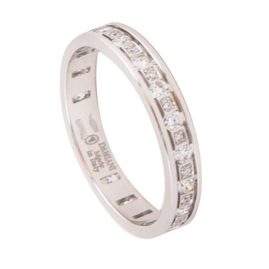 Anello Damiani collezione Belle Epoque in oro bianco con diamanti misura 13 - DAMIANI