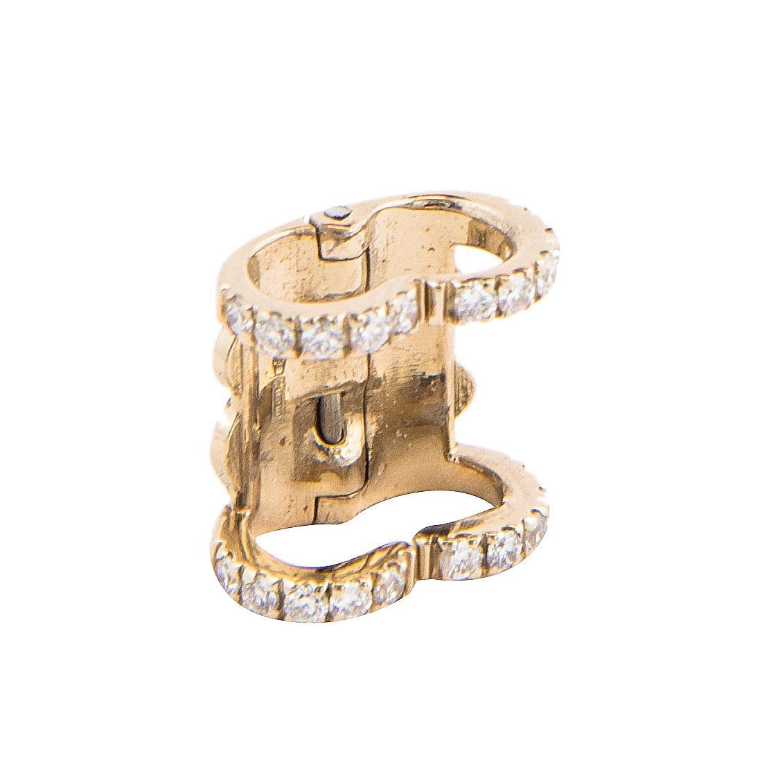 Ferma collana Chantecler Cherie in oro giallo con diamanti ct 0,19 - CHANTECLER