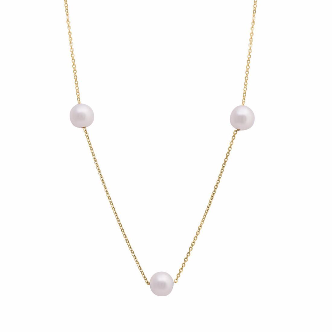 Collana in oro giallo con perle - ORO&CO