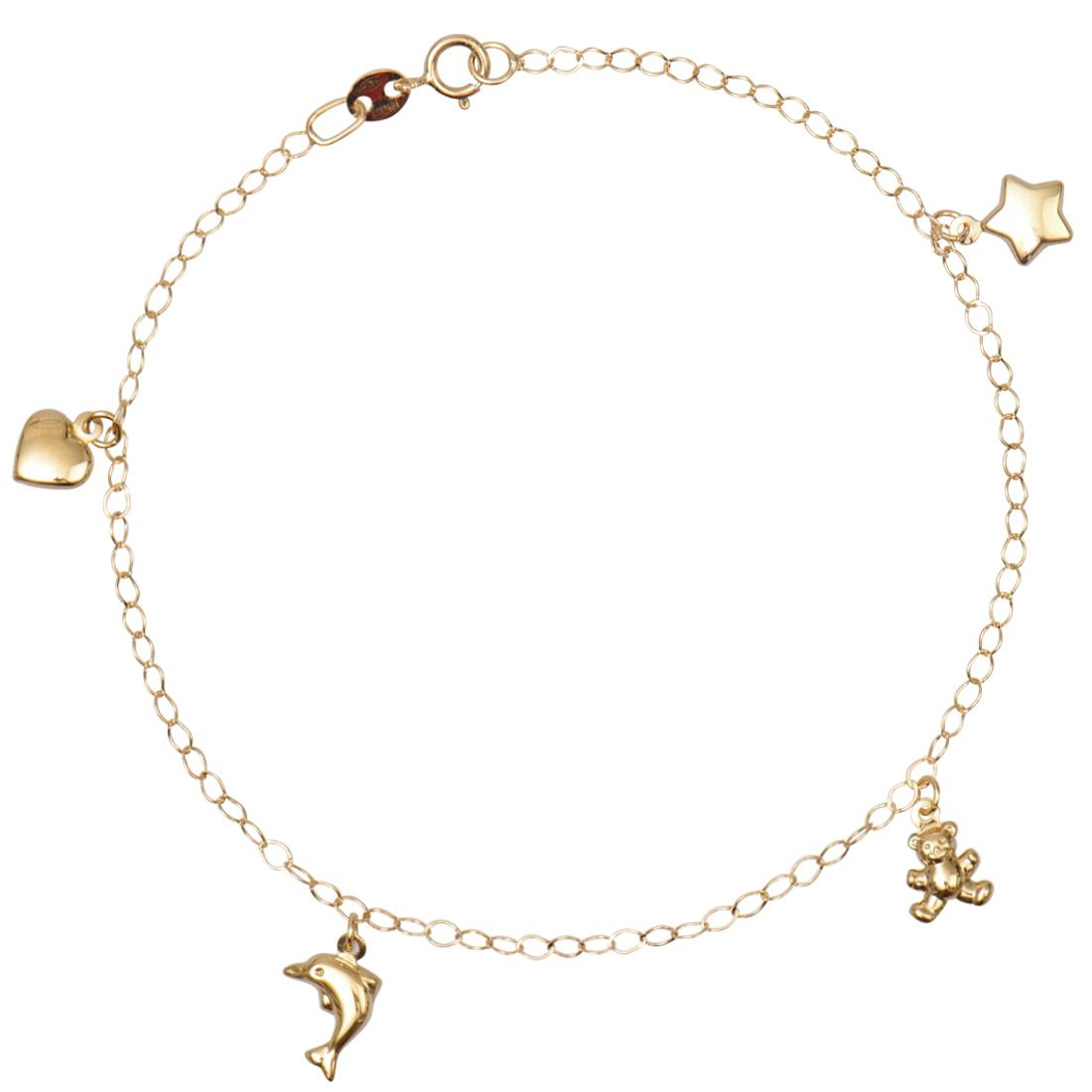 Bracciale in oro giallo con charms - ORO&CO