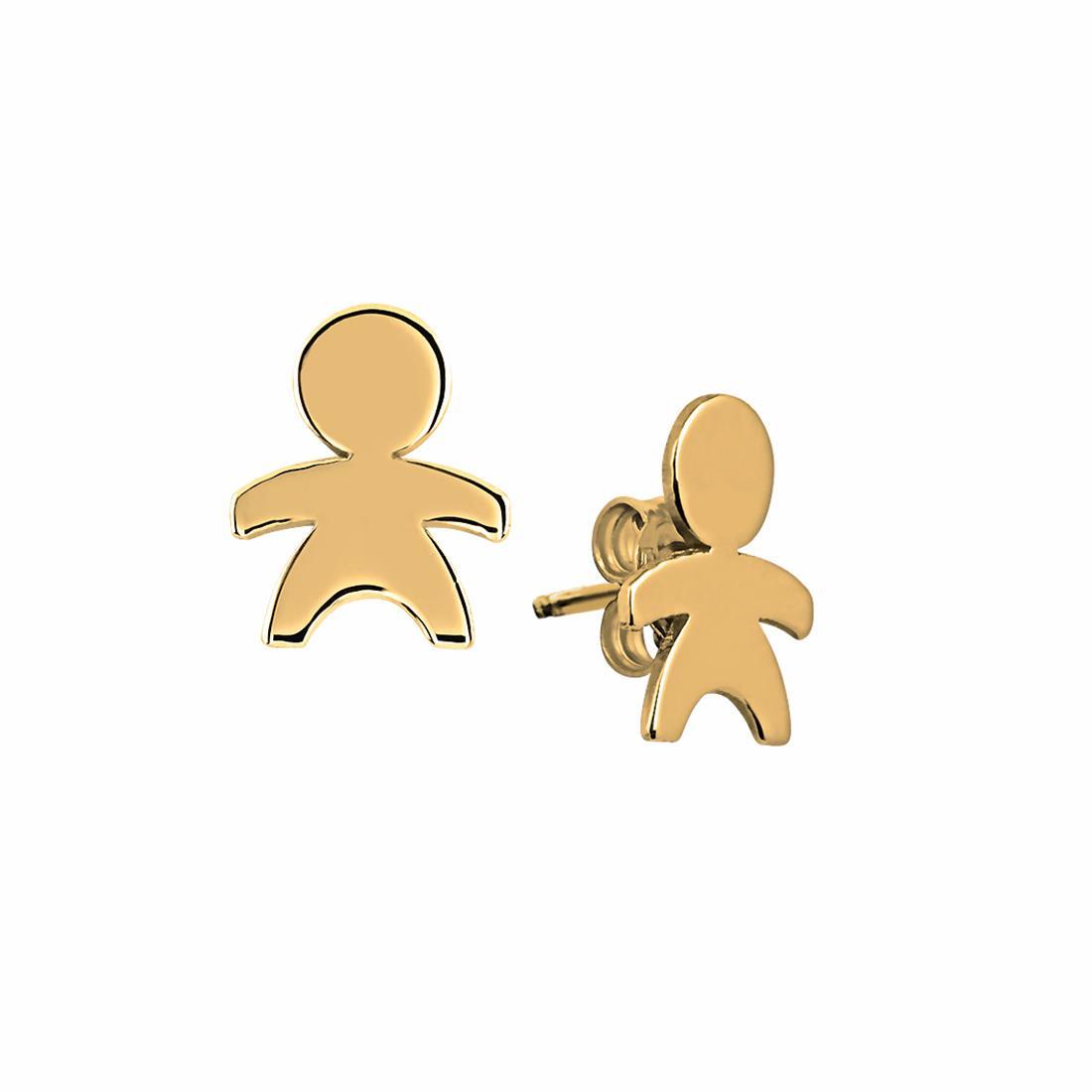Orecchini in oro giallo con omino stilizzato - ORO&CO