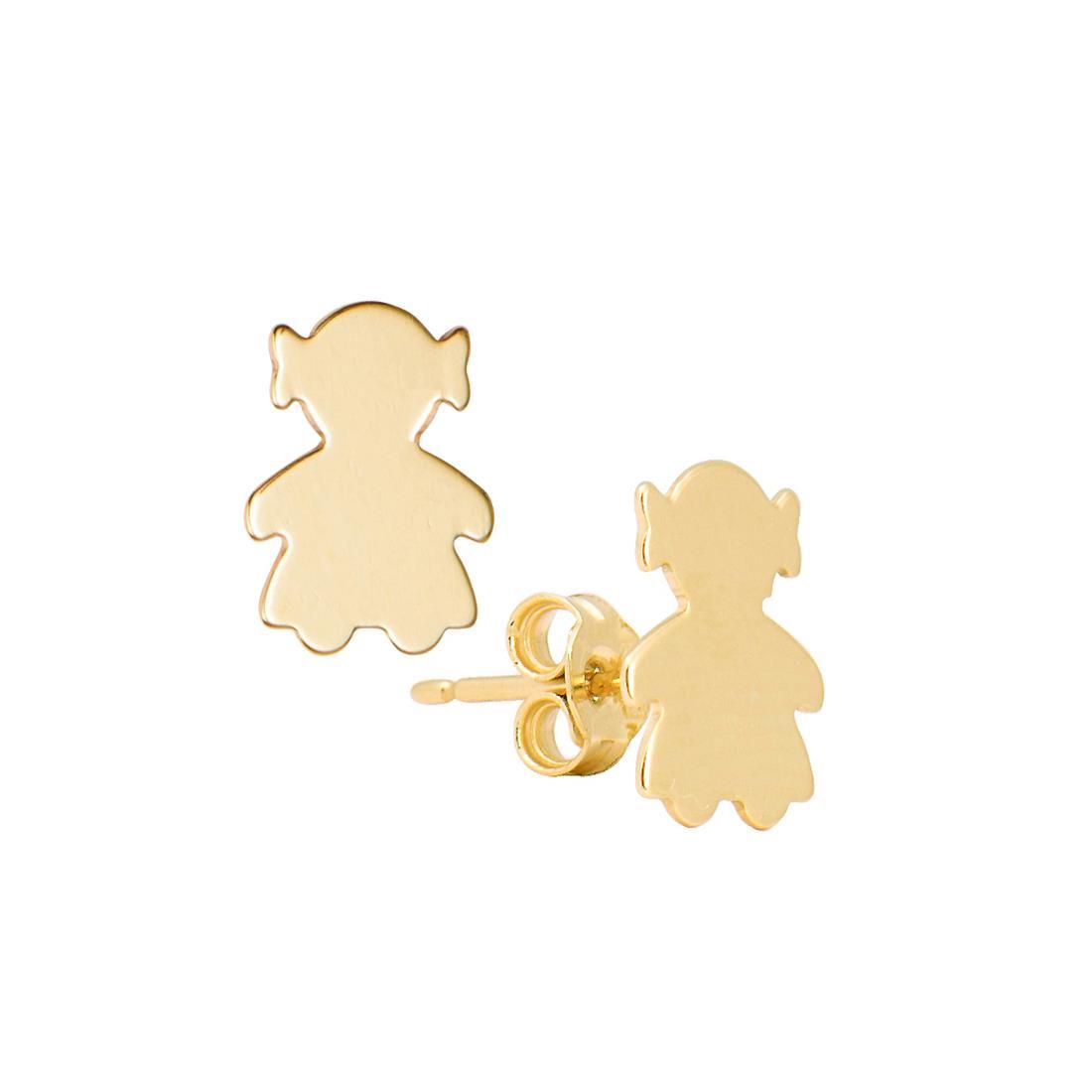 Orecchini a lobo in oro giallo - ORO&CO