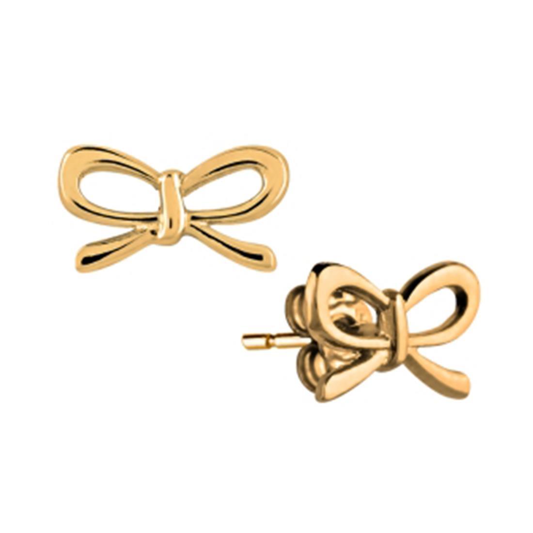 Orecchini in oro giallo design fiocco - ORO&CO