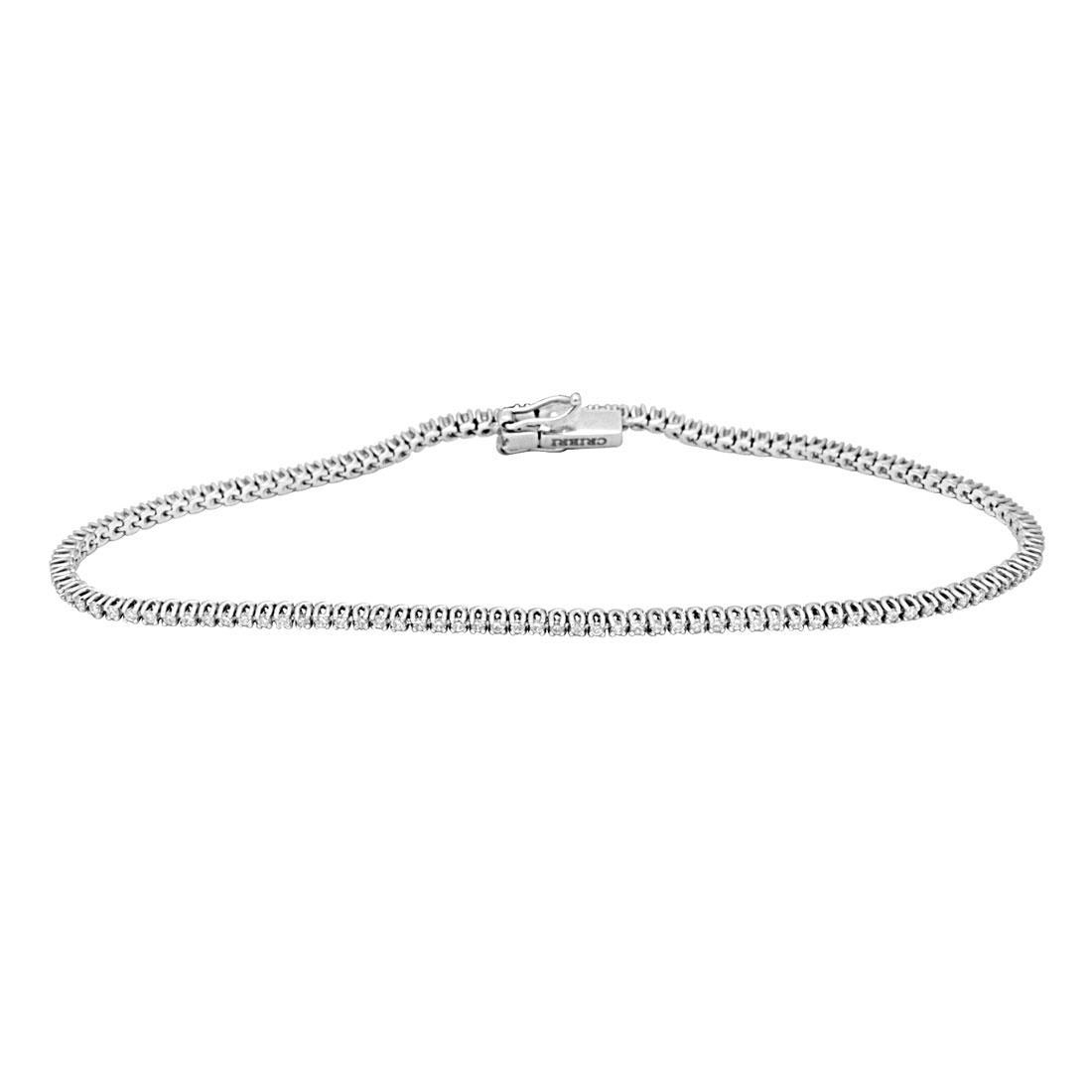 Bracciale tennis in oro bianco con diamanti - ORO&CO