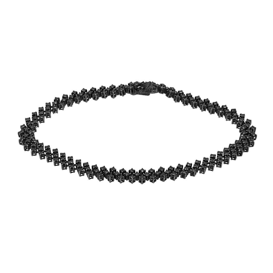 Bracciale tennis in oro con diamanti naturali neri trattati - ALFIERI & ST. JOHN