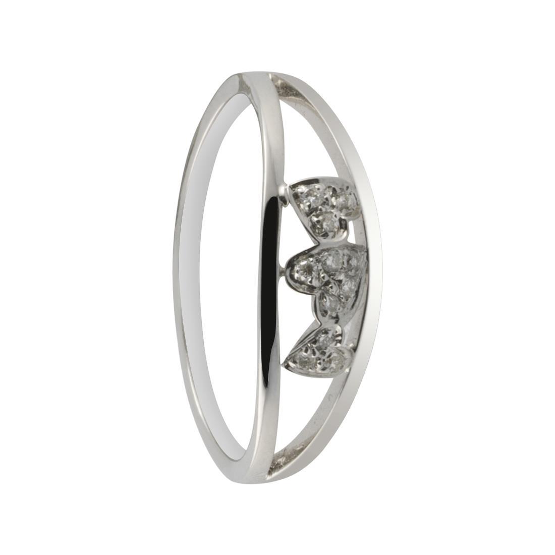 Anello in oro bianco con diamanti ct. 0,04 - ALFIERI & ST. JOHN