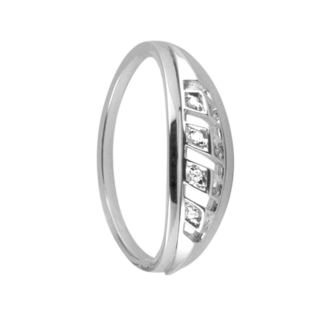 Veretta design in oro bianco con diamanti mis 14 - ALFIERI & ST. JOHN