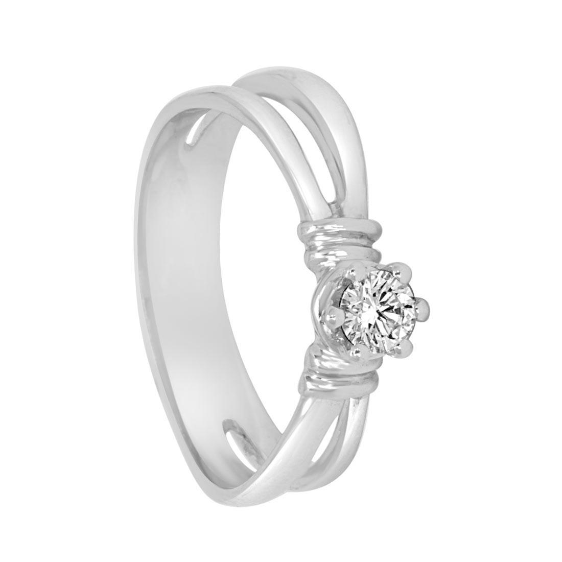 Anello in oro bianco con diamante misura 12 - ORO&CO